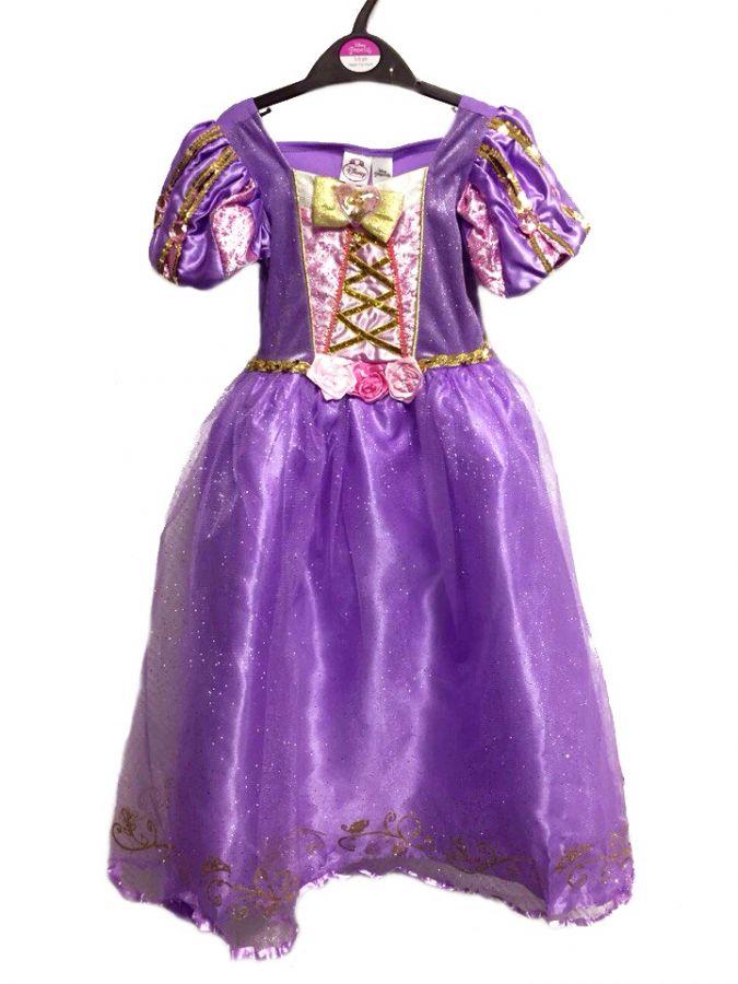 Платье Рапунцель с косой - костюм Дисней