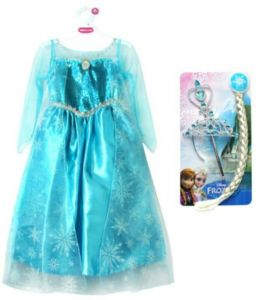 Платье Эльзы костюм с косой Де Люкс