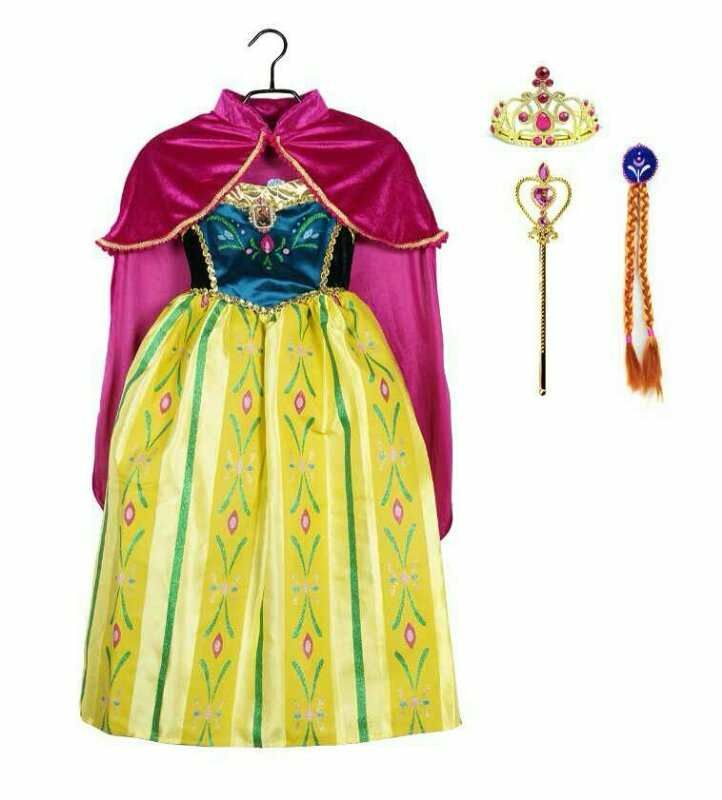 Платье Анны Холодное сердце коронация с аксессуарами
